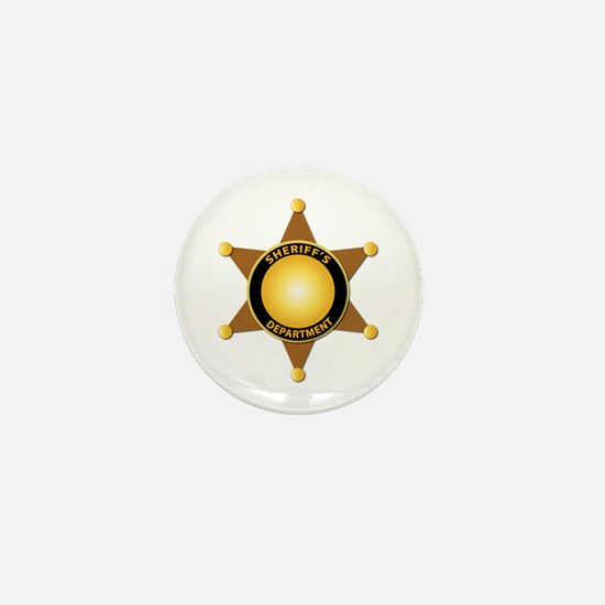Sheriff's Department Badge Mini Button