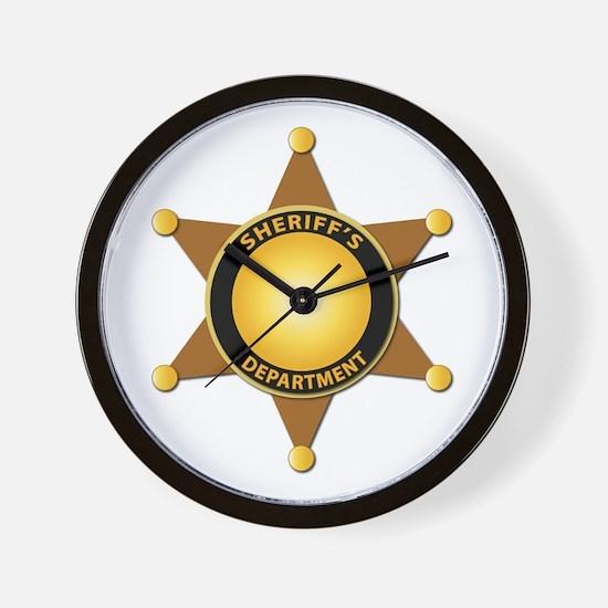 Sheriff's Department Badge Wall Clock