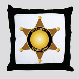 Sheriff's Department Badge Throw Pillow