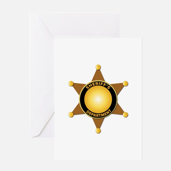 Sheriff's Department Badge Greeting Card