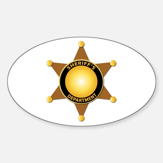 Sheriff's Department Badge Sticker (Oval)