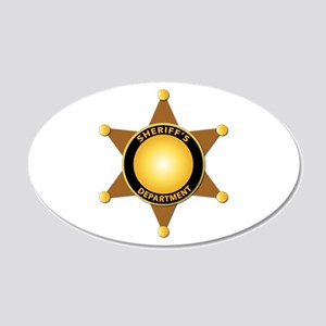 Sheriff's Department Badge 20x12 Oval Wall Decal