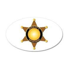 Sheriff's Department Badge Wall Decal