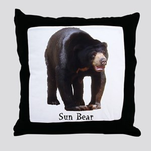 sun bear Throw Pillow