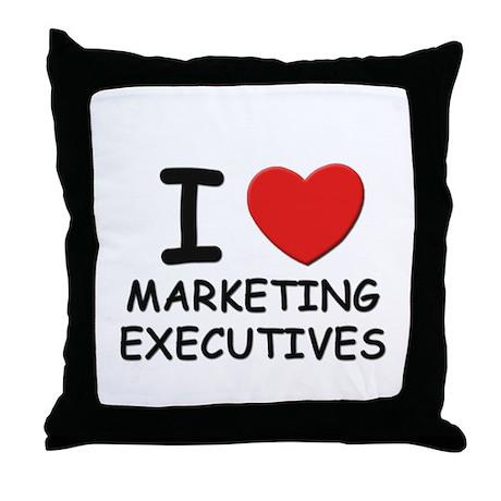 I love marketing executives Throw Pillow