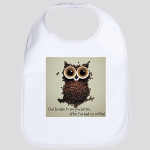 Owl says COFFEE!! Bib