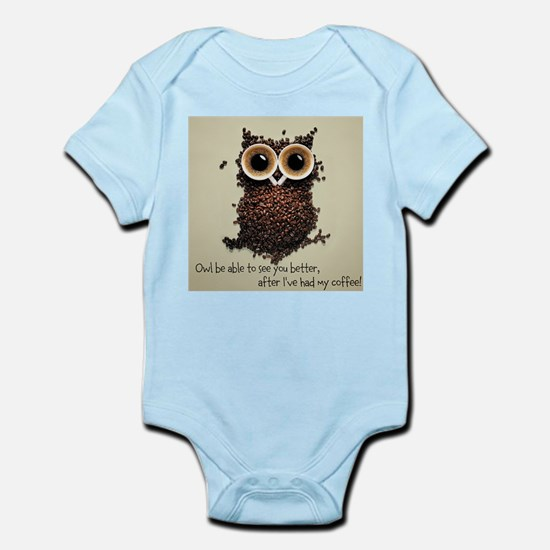 Owl says COFFEE!! Body Suit