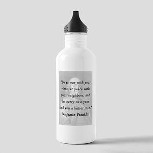 Franklin - War Peace Water Bottle