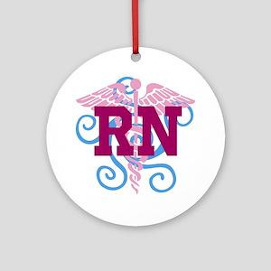 RN Swirl Ornament (Round)