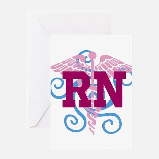 RN swirl Greeting Card