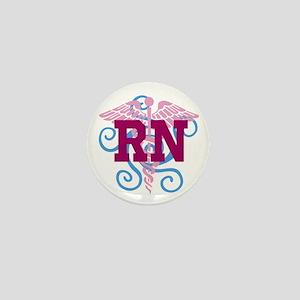 RN Swirl Mini Button