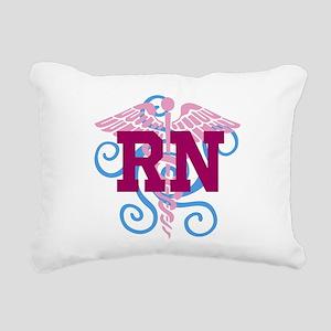 RN swirl Rectangular Canvas Pillow