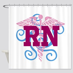RN swirl Shower Curtain