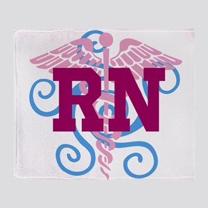 RN swirl Throw Blanket