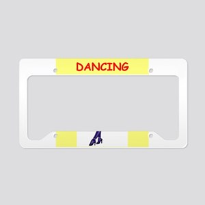 DANCING License Plate Holder