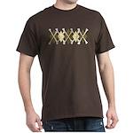Argyle Pirate Dark T-Shirt, Coffee Colors