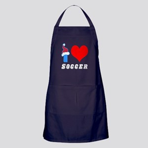 I Love Soccer Apron (dark)