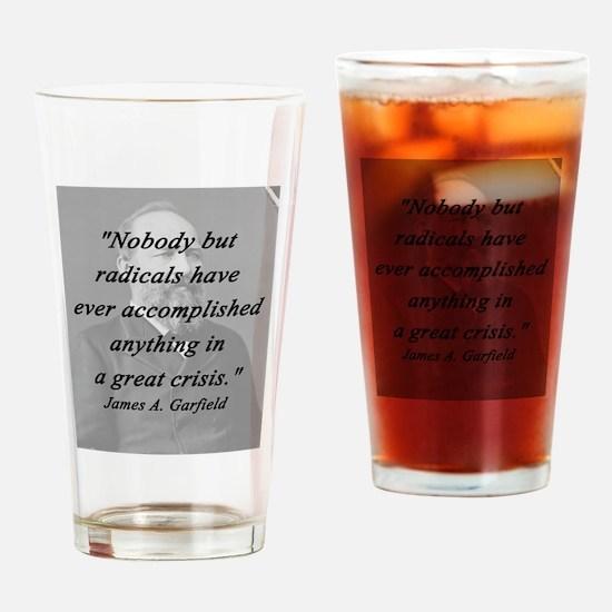 Garfield - Nobody But Radicals Drinking Glass