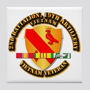 Army - 2-19th FA w VN SVC Tile Coaster