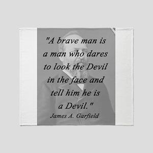 Garfield - Brave Man Throw Blanket