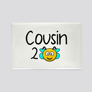 Cousin 2 Bee Rectangle Magnet