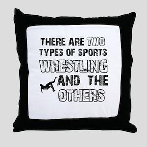Wrestling designs Throw Pillow