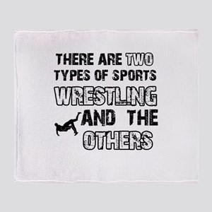 Wrestling designs Throw Blanket