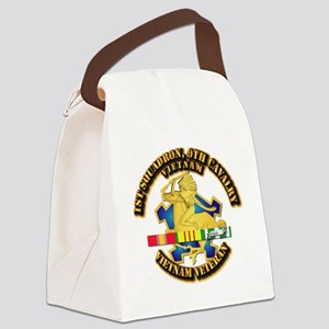 Army - 1-9th CAV w VN SVC Ribbons Canvas Lunch Bag