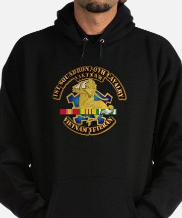 Army - 1-9th CAV w VN SVC Ribbons Hoodie (dark)