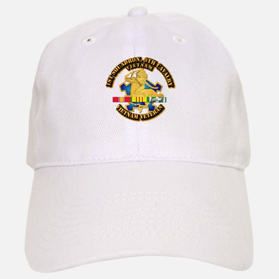 Army - 1-9th CAV w VN SVC Ribbons Baseball Baseball Cap