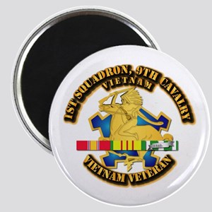 Army - 1-9th CAV w VN SVC Ribbons Magnet