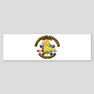 Army - 1-9th CAV w VN SVC Ribbons Sticker (Bumper)