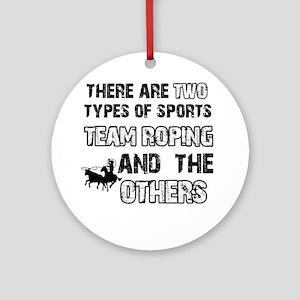 Team Roping designs Ornament (Round)