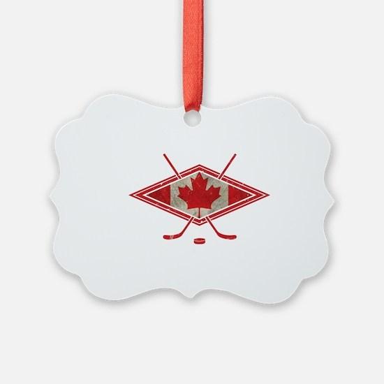 Canadian Hockey Flag Ornament