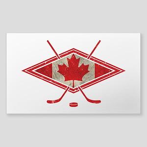 Canadian Hockey Flag Sticker