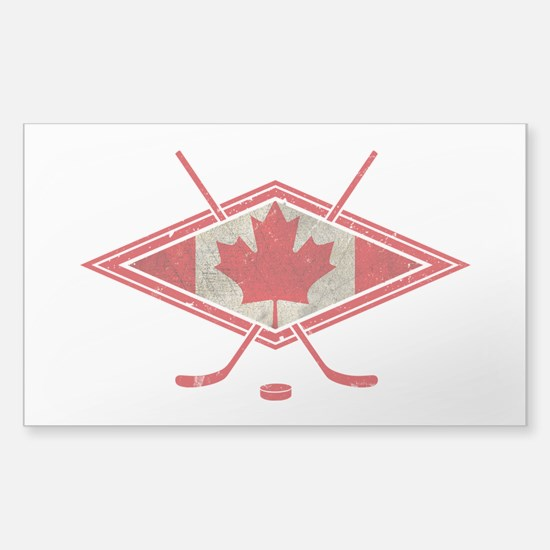 Canadian Hockey Flag Stickers