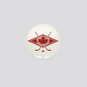 Canadian Hockey Flag Mini Button