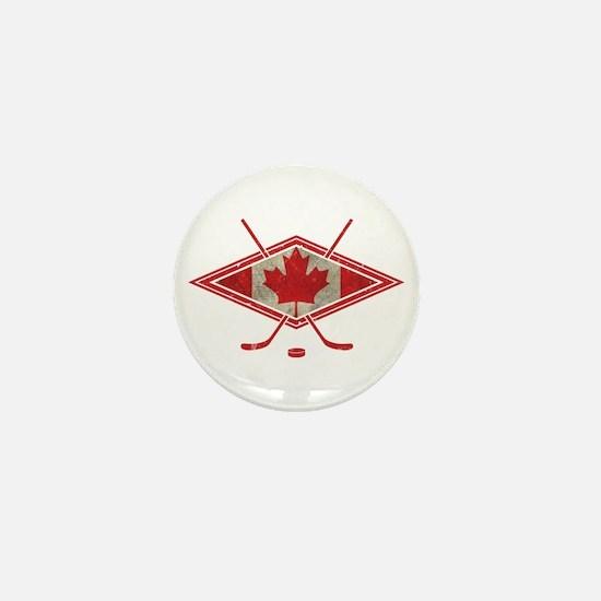 Canadian Hockey Flag Mini Button