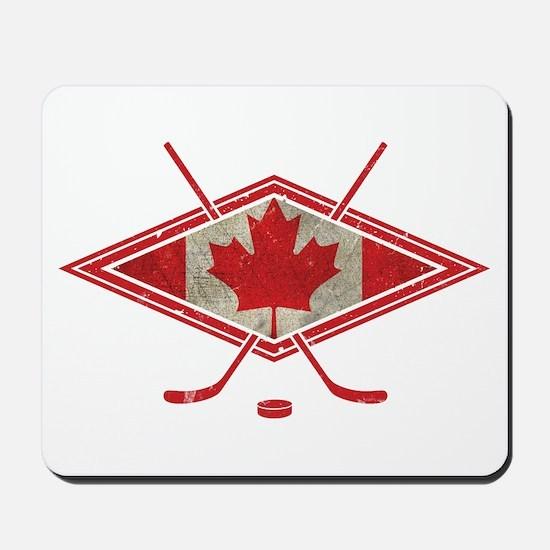 Canadian Hockey Flag Mousepad