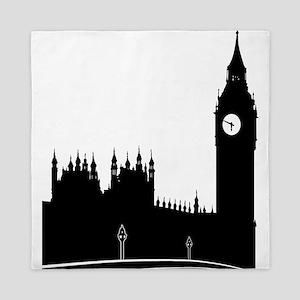London silhouette Queen Duvet