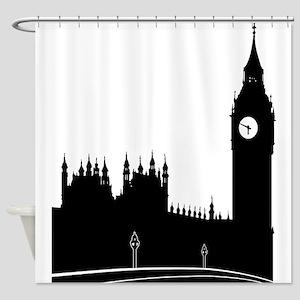 London silhouette Shower Curtain
