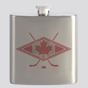 Canadian Hockey Flag Flask