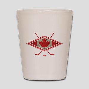 Canadian Hockey Flag Shot Glass