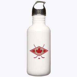 Canadian Hockey Flag Water Bottle