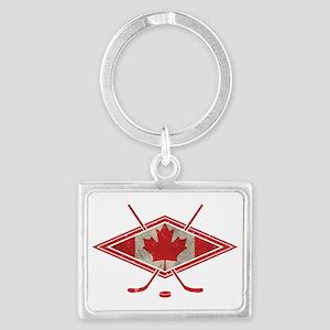 Canadian Hockey Flag Keychains