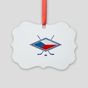 Czech Ice Hockey Flag Ornament
