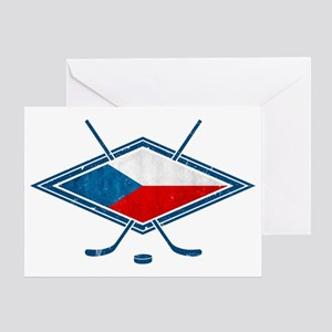 Czech Ice Hockey Flag Greeting Card