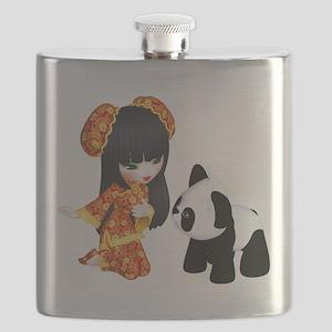 Kawaii China Girl Flask