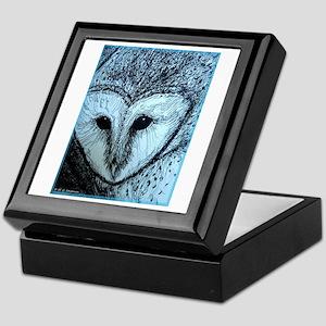 barn owl, wildlife art! Keepsake Box