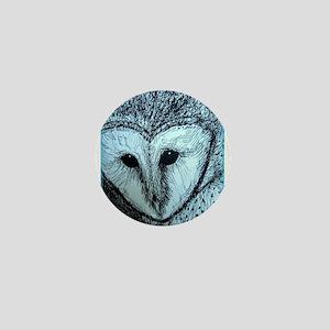 barn owl, wildlife art! Mini Button